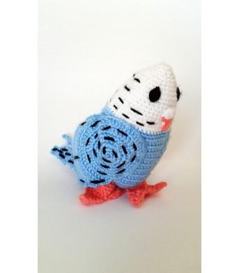 Amigurumi Mavi Muhabbet Kuşu Bebek Oyuncak