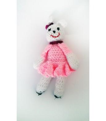 Amigurumi Pembe Elbiseli Bebek Oyuncak