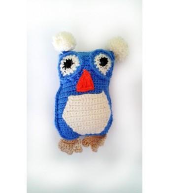 Amigurumi Mavi Baykuş Bebek Oyuncak