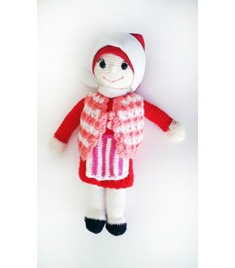 Amigurumi Yörük Elbiseli Bebek Oyuncak