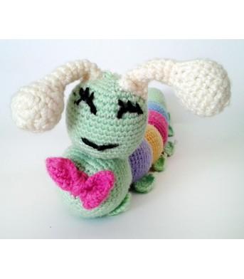 Amigurumi Renkli Tırtıl Bebek Oyuncak