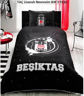 Taç Lisanslı Beşiktaş 3. Yıldız Tek Kişilik Nevresim Takımı